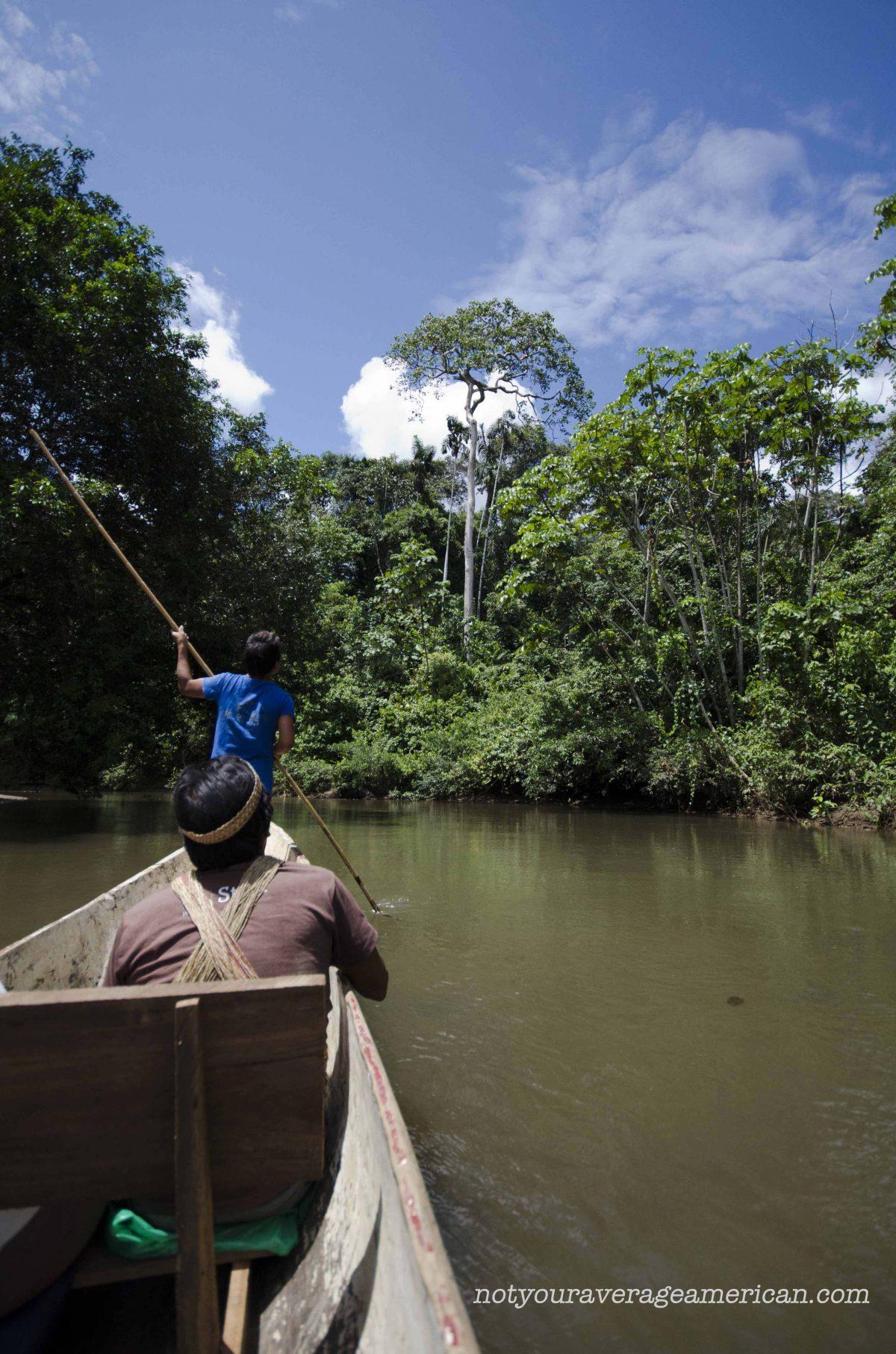 Approaching Huaorani Territory in Pastaza | ©Angela Drake