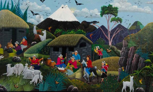 Folk Art from Tigua, Ecuador