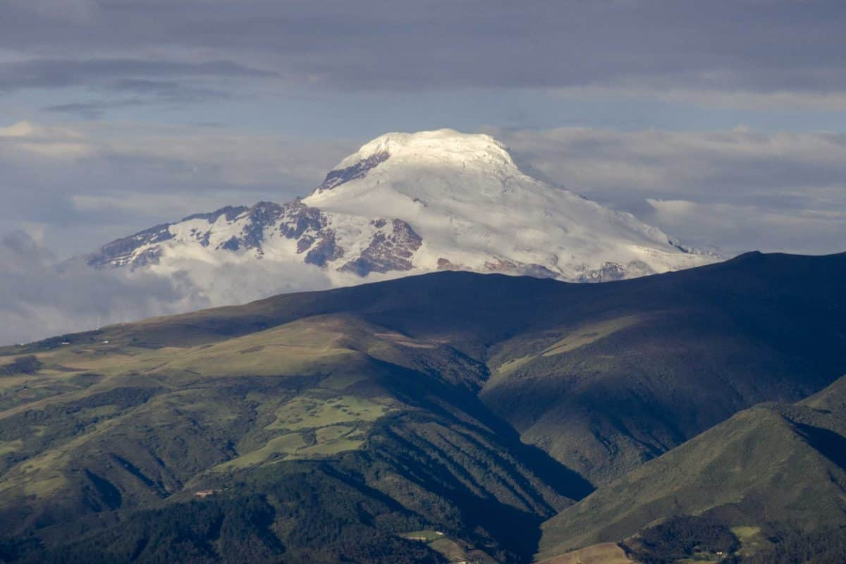 Cayambe is the third highest mountain in Ecuador   ©Angela Drake