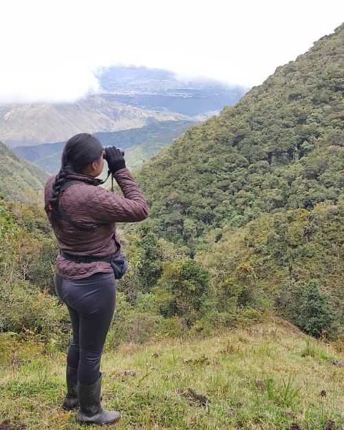Looking for birds from a convenient point of view | ©Carlos Diaz